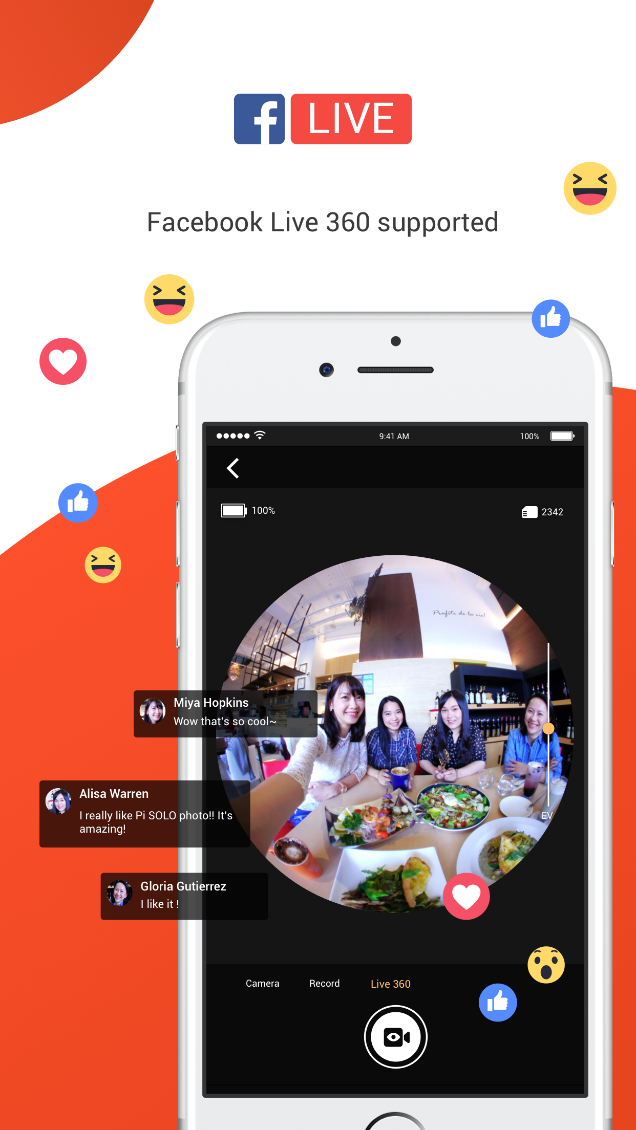 Facebook Live 360 supported