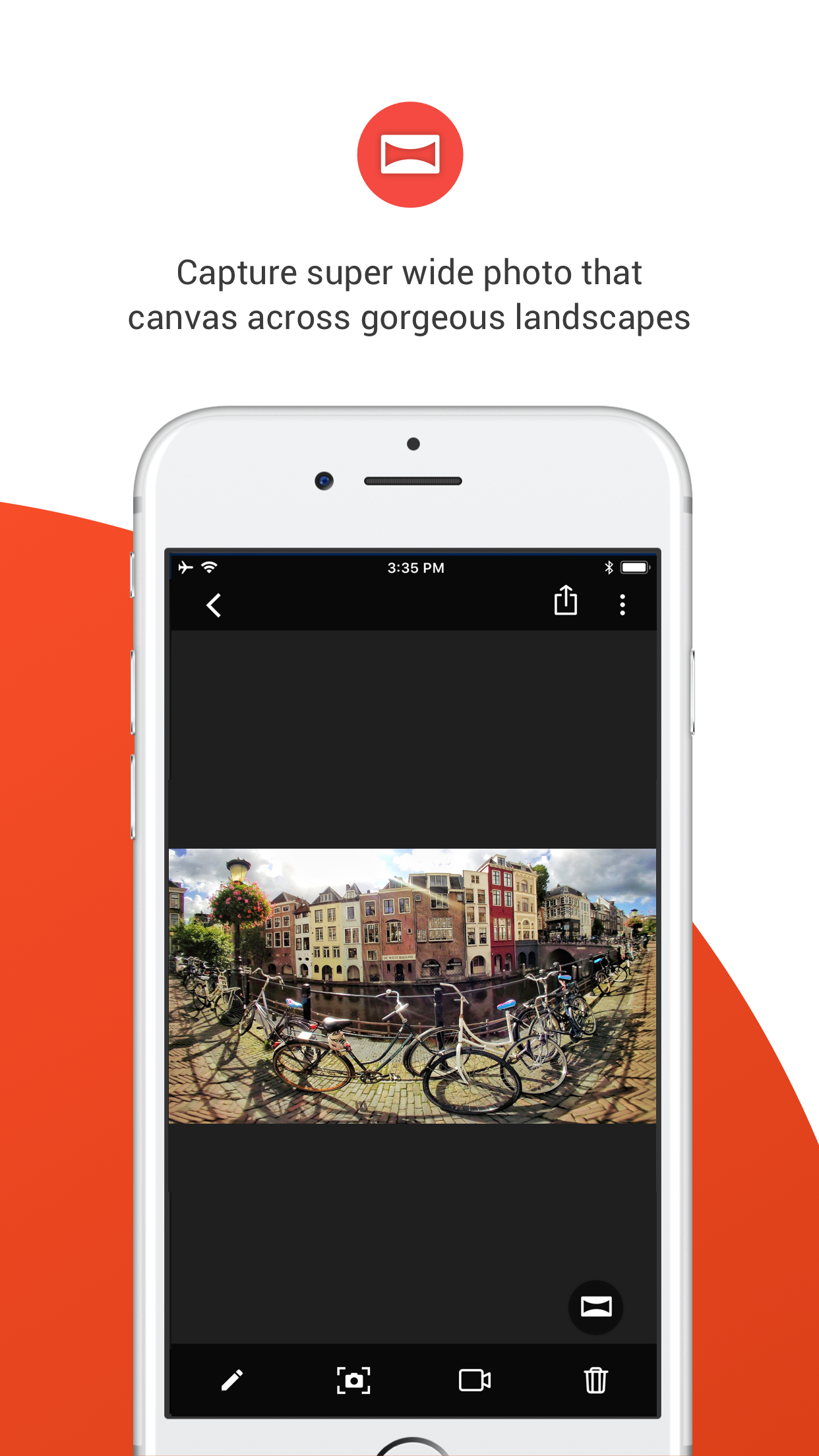 Capture super wide photo that canvas across gorgeous landscapes